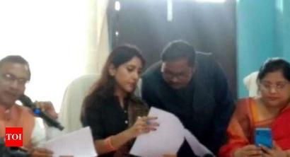 Aditi Singh stays away from Bharat Bachao Rally