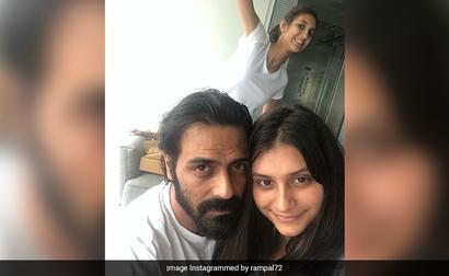 Pic: The One With Arjun Rampal, Mahikaa And 'Photobomb Specialist' Myra