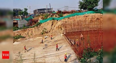 Delhi: Pragati Maidan work on, with 45 workers