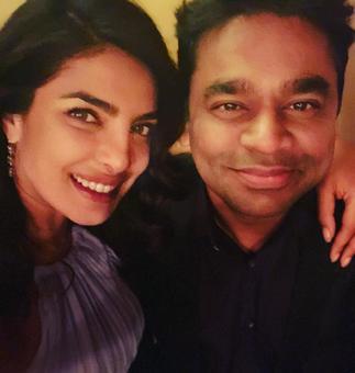 Priyanka Chopra catches up with music maestro AR Rahman in Las Vegas