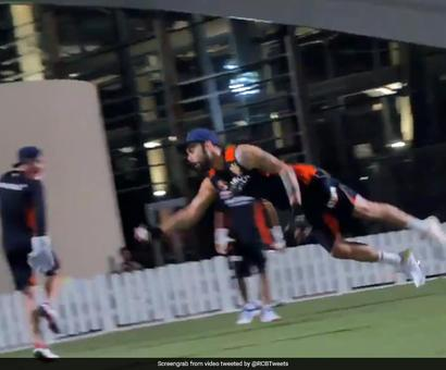Watch: Kohli Takes Stunning One-Handed Catch During RCB Training Session