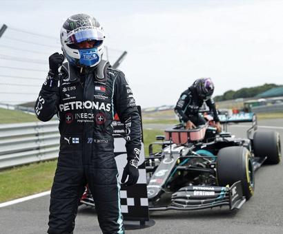 Valtteri Bottas Pips Lewis Hamilton For 70th Anniversary Grand Prix Pole
