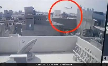 CCTV Video Shows PIA Plane Crashing Into Karachi Building