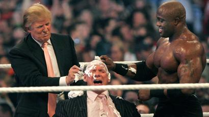 When Donald Trump shaved off WWE superstar Vince McMahon's hair a...