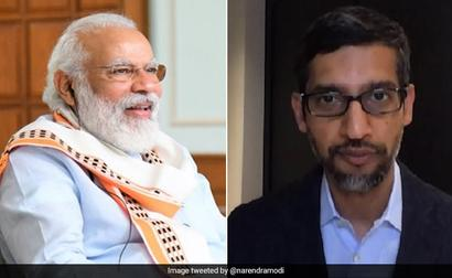 PM Modi Shares Details Of Chat With Google CEO Sundar Pichai