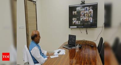 Coronavirus: Rajnath Singh holds review meeting with CDS, others via video conferencing