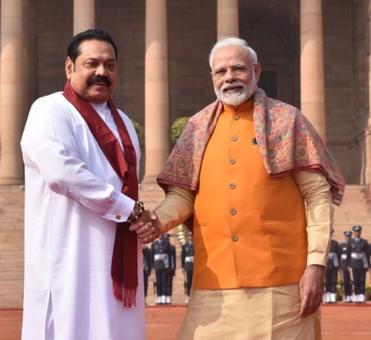 Modi meets Rajapaksa