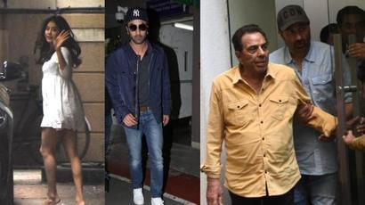 Dharmendra celebrates birthday with Sunny Deol, Ranbir Kapoor returns from Manali....