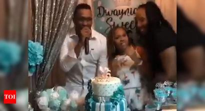 Dwayne Bravo grooves to 'Champion' song on daughter's birthday