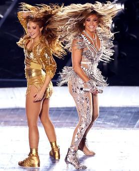 PHOTOS: J-Lo, Shakira project power of women at Super Bowl