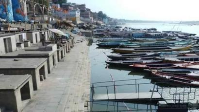 Ghats in Varanasi remain deserted on Ganga Dussehra