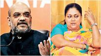 Amit Shah, Vasundhara Raje meet as state BJP gets into election mode