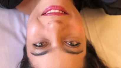 Kajol takes an upside down selfie which is just right for an upside down world,...