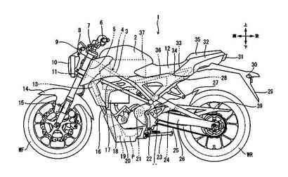 Honda Patents Reveal New Electric Motorcycle