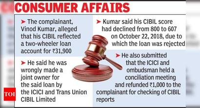 Hyd: Bank, firm fined for error in credit report