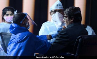 Pics: Big B Reveals What Goes Behind Making 'KBC 12' Set A Safe Space