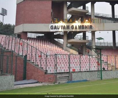 DDCA Unveils Gautam Gambhir Stand At Arun Jaitley Stadium