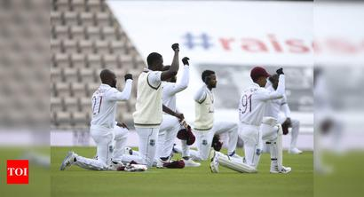 1st Test: England and Windies players take a knee in Southampton