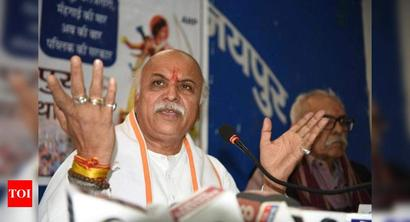 Use jhatka to deal with wild animals: Pravin Togadia