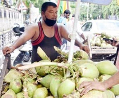 Sweltering heat pushes up sale of coconut water