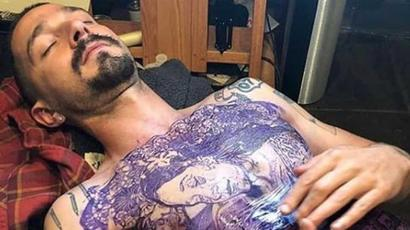 Shia LaBeouf gets his entire chest permanently tattooed for new film. See pics,...
