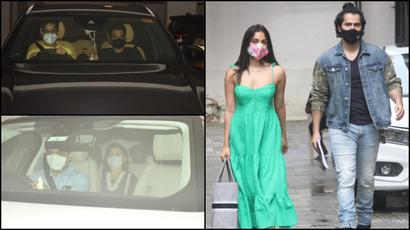 Photos: Varun Dhawan-Kiara Advani get clicked at Karan Johar's office,...