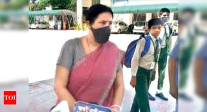 Panchkula: Govt school calls kids, holds classes amid Covid pandemic