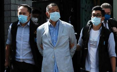 Hong Kong Media Tycoon Arrested, Led Away In Handcuffs In Dramatic Raid