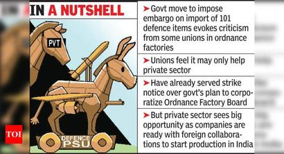 Bar on def imports: Unions see red, pvt cos ready with foreign tie-ups