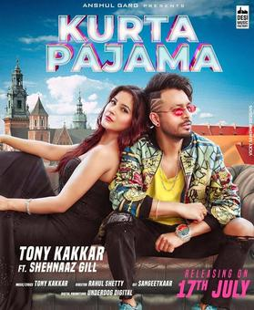 Here`s the poster of Shehnaaz Gill`s next track `Kurta Pajama`