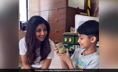 What Shilpa Shetty And Son Viaan Made In Their Latest DIY Project