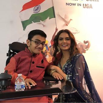 Esha Gupta gets teary eyed as a talented 15 year old physically challenged boy sings for her