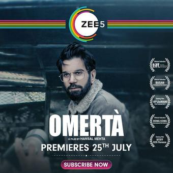 ZEE5`s next release `Omerta` with Rajkummar Rao is set to premiere on this day