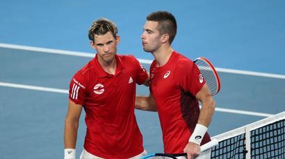 Dominic Thiem slumps as Croatia upset Austria at ATP Cup