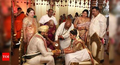 HDK's son Nikhil ties knot with Revathi