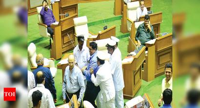 Goa budget: House adjourned 4 times amid oppn protests