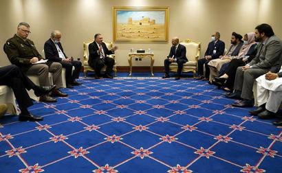 US Secretary of State Pompeo Meets Taliban, Kabul Negotiators In Qatar