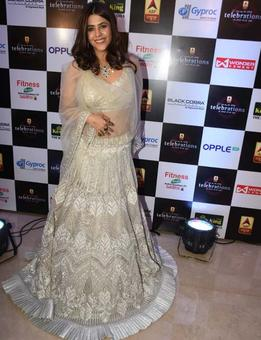 Ekta Kapoor honored with grand achiever of the year award at an award function!