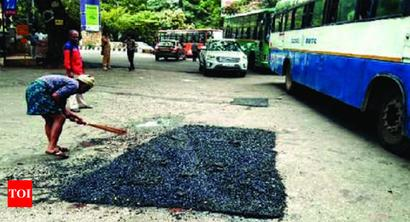 Only 1,600 potholes in Bengaluru: BBMP | Bengaluru News - Times of India
