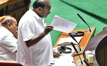 Karnataka Assembly: H.D. Kumaraswamy reads out poem, advises CM Yediyurappa