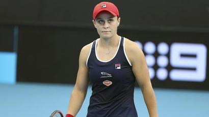 Ashleigh Barty stunned by qualifier Jennifer Brady in straight sets in Brisbane