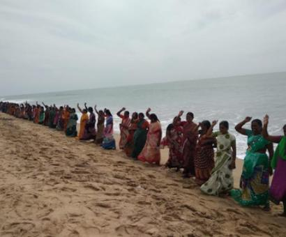 Fishermen protest construction of coal jetty