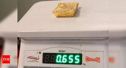 Customs seize gold worth Rs 58.85 lakh at Mangaluru airport, arrest two