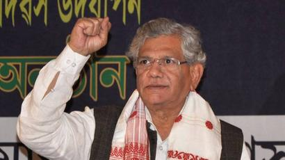 Sitaram Yechury joins protesters as peaceful agitation outside Jamia enters 7th day