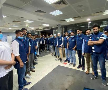 Dubai: 2nd charter flight by SKSSF Karnataka UAE arrives Bengaluru